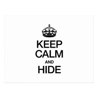 KEEP CALM AND HIDE POSTCARD
