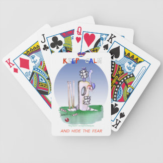 keep calm and hide the fear, tony fernandes bicycle playing cards