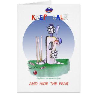 keep calm and hide the fear, tony fernandes card