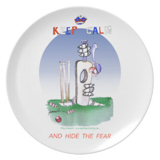 keep calm and hide the fear, tony fernandes melamine plate