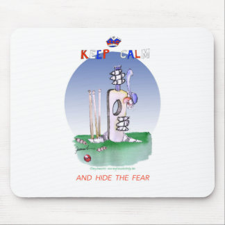 keep calm and hide the fear, tony fernandes mouse pad