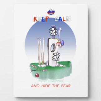 keep calm and hide the fear, tony fernandes plaque