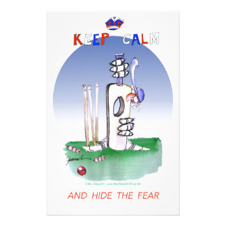 keep calm and hide the fear, tony fernandes stationery