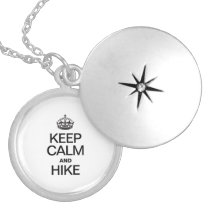 KEEP CALM AND HIKE LOCKET NECKLACE