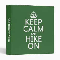 Avery Signature 1' Binder with Keep Calm and Hike On design