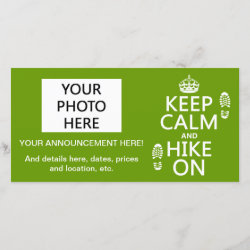 with Keep Calm and Hike On design