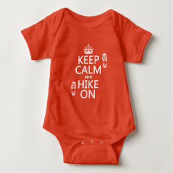 Baby Jersey Bodysuit with Keep Calm and Hike On design