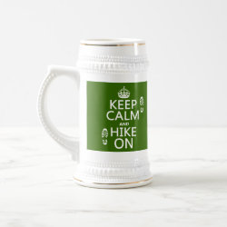 Stein with Keep Calm and Hike On design