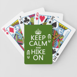 Playing Cards with Keep Calm and Hike On design