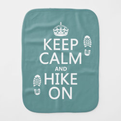 Burp Cloth with Keep Calm and Hike On design