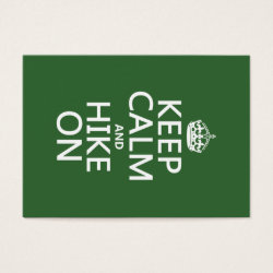 Chubby Business Cards (100-pack) with Keep Calm and Hike On design