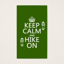 Business Card with Keep Calm and Hike On design