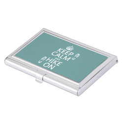 Business Card Holder with Keep Calm and Hike On design