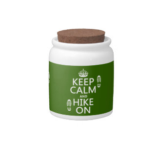 Keep Calm and Hike On (any background color) Candy Jar