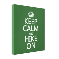 Premium Wrapped Canvas with Keep Calm and Hike On design