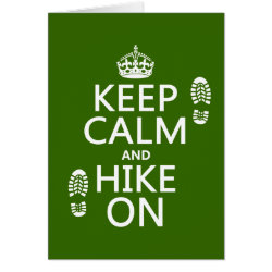 Greeting Card with Keep Calm and Hike On design