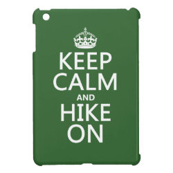 Case Savvy iPad Mini Glossy Finish Case with Keep Calm and Hike On design
