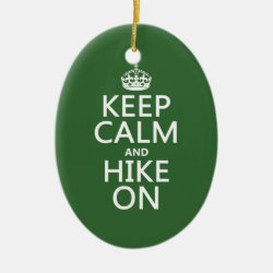 Oval Ornament with Keep Calm and Hike On design