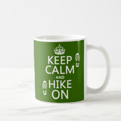 Classic White Mug with Keep Calm and Hike On design