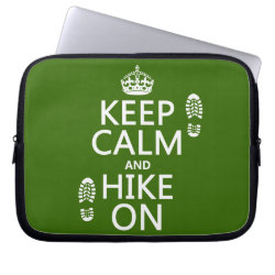 Neoprene Laptop Sleeve 10 inch with Keep Calm and Hike On design