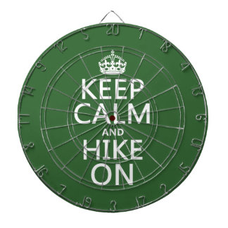Keep Calm and Hike On (any background color) Dartboard