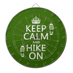 Megal Cage Dart Board with Keep Calm and Hike On design