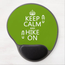 Gel Mousepad with Keep Calm and Hike On design