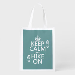 Reusable Grocery Bag with Keep Calm and Hike On design