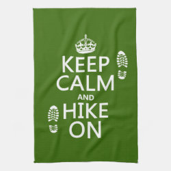Kitchen Towel 16' x 24' with Keep Calm and Hike On design