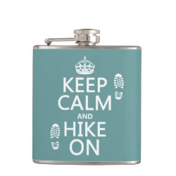 Vinyl Wrapped Flask, 6 oz. with Keep Calm and Hike On design