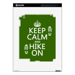 Amazon Kindle DX Skin with Keep Calm and Hike On design