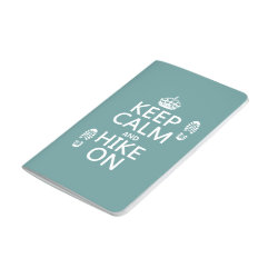 Pocket Journal with Keep Calm and Hike On design