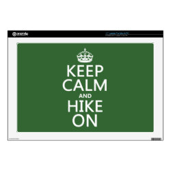17' Laptop Skin for Mac & PC with Keep Calm and Hike On design