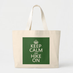 Jumbo Tote Bag with Keep Calm and Hike On design