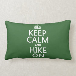 Throw Pillow Lumbar 13' x 21' with Keep Calm and Hike On design