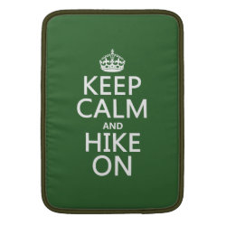 Macbook Air Sleeve with Keep Calm and Hike On design