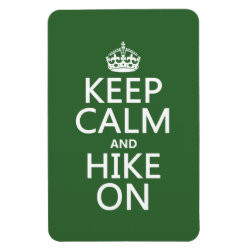 4'x6' Photo Magnet with Keep Calm and Hike On design