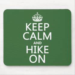 Mousepad with Keep Calm and Hike On design