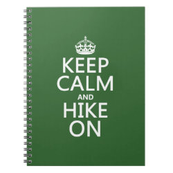 Photo Notebook (6.5' x 8.75', 80 Pages B&W) with Keep Calm and Hike On design
