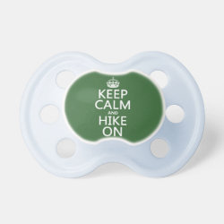 BooginHead® Custom Pacifier (6+ Months) with Keep Calm and Hike On design