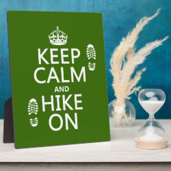 Photo Plaque 8' x 10' with Easel with Keep Calm and Hike On design