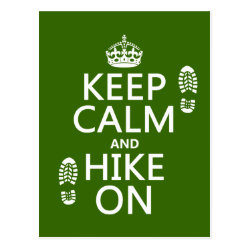 Postcard with Keep Calm and Hike On design
