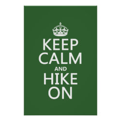 Matte Poster with Keep Calm and Hike On design