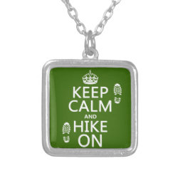 Small Necklace with Keep Calm and Hike On design