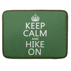 Macbook Pro 15' Flap Sleeve with Keep Calm and Hike On design