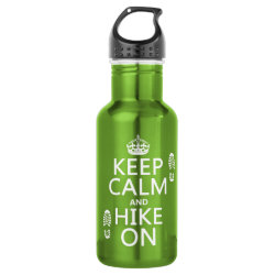 Water Bottle (24 oz) with Keep Calm and Hike On design