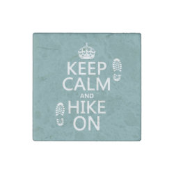 Marble Magnet with Keep Calm and Hike On design