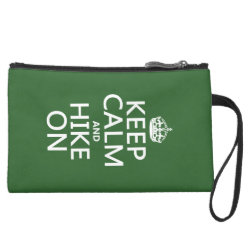 Sueded Mini Clutch with Keep Calm and Hike On design