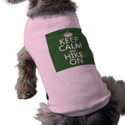 Dog Ringer T-Shirt with Keep Calm and Hike On design