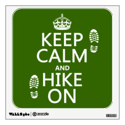 Walls 360 Custom Wall Decal with Keep Calm and Hike On design